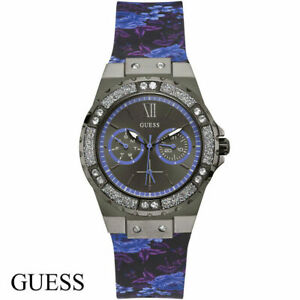 Guess W1053L8 Limelight gray black blue purple Silicone Women's Watch NEW