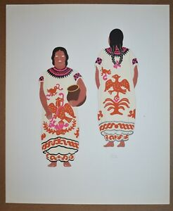 Listed Guatemalan Artist CARLOS MERIDA, Original Serigraph Plate Signed