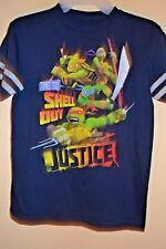 New listing TMNT-BOYS SIZE 8-TIME TO SHELL OUT JUSTICE!-LICENSED SHORT SLEEVE-NWOT