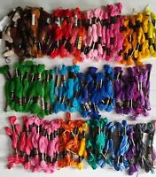 150+ Skeins Embroidery Floss Mostly New Variegated & Solid DFN, Coats, DMC