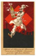 Rare Carte d'illustrateur. Affiche d'Henry le Monnier pour Huile Lesieur.RARE++.