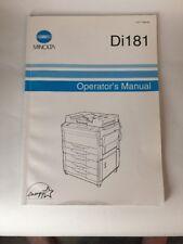 1999 Minolta Copier Di181 Operator's Manual Konica-Minolta 1177-7704-02