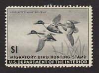 United States Federal Duck stamp #RW12, MH OG, SCV $35.00