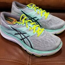 ASICS 33-m GREY GREEN ATHLETIC RUNNING SHOES WOMENS SIZE 9.5 100% AUTHENTIC