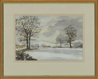 Parson - Framed Contemporary Watercolour, A Winter Landscape
