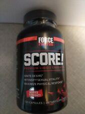 Force Factor Score Libido Enhancer Sexual Vitality 120 Capsules Exp 3/2021
