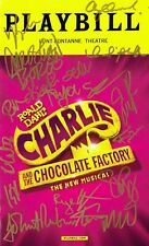 Charlie and the Chocolate Factory OBC Original Broadway Cast SIGNED PLAYBILL COA