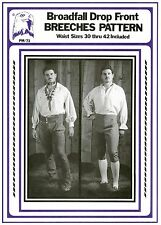 Men's Broadfall Drop Front Breeches Pants size 30-42 Eagle's View Sewing Pattern