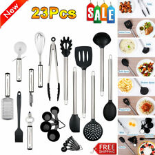 New listing Kitchen Utensil Set 23 Stainless Steel Non Stick Cooking Bakeware Cookware Tool