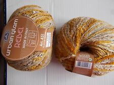 DMC Urban Glam Rebel  wool blend textured yarn, Mustard, lot of 2 (180 yds each)