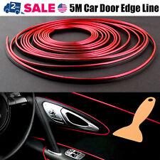5M Car Interior Door Gap Panel Edge Line Molding Trim Strip Insert Decorate Red