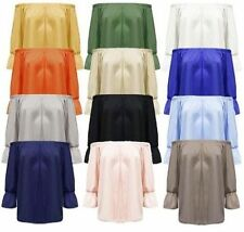 Markenlose taillenlange 3/4 Arm Damenblusen, - tops & -shirts aus Polyester