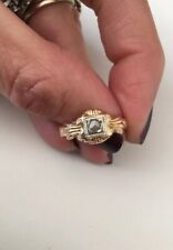 Antique Art Deco Gold Ring Diamond Gold 18k Anello Oro 750 Antico Diamante