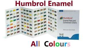 HUMBROL 14ml ENAMEL TINLETS CHOOSE MATT, GLOSS, SATIN, METALLIC & METALCOTE