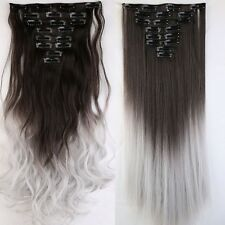 US 100% Real as remy Hair Clip in Full Head Human Hair Extensions Extentions lkk