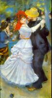 Dance at Bougival by Pierre-Auguste Renoir Giclee Fine ArtRepro on Canvas