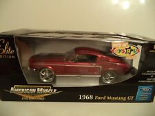 AMERICAN MUSCLE ELITE FORD MUSTANG GT 1968  1/18TH SCALE   IN  BOX