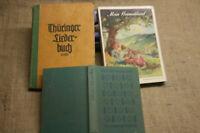 3 alte Liederbücher Volkslied Wanderlieder Heimatlieder Trinklieder Scherzlieder