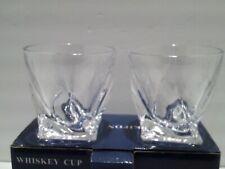 UKIFON Whisky Glass Set of 2 10 OZ Twisted