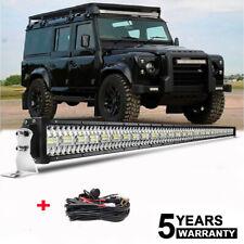 "52"" 9D 3250W LED Light Bar Spot Flood Combo Beam For Land Rover Defender + Wires"