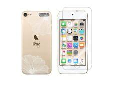 iPod Touch 5, Touch 6 - Coque souple + 1 film en verre trempé (Fleur Blanche)