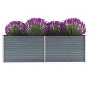 vidaXL Garden Planter Galvanised Steel Raised Bed Box Multi Sizes Grey/Green