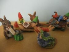 Gallo pewter 5 hand panted gnomes adorable