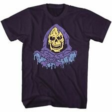 Masters Of The Universe Melty Skeletor Blackberry Heather Adult T-Shirt