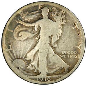 1916 WALKING LIBERTY HALF DOLLAR ~ G GOOD ~ PRICED RIGHT!