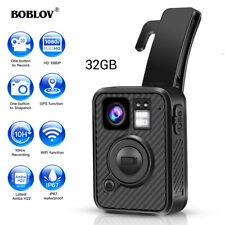 Boblov HD 1440 P Körper getragene Kamera 32GB WiFi GPS IR Night Vision Security