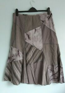 Lovely Grey Mix Paneled Flared Lined Skirt from Per Una - Size 14 - Great!