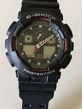 New Without Tags Casio G-Shock GA100-1A2DR Men's Red And Black Wrist Watch