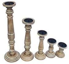 Wooden Candlesticks Pillar Candle & Tea Light Holders