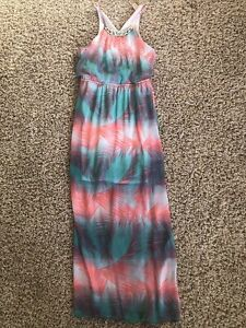 Womens No Boundaries Size M (7-9) Summer Maxi Dress With Metal Accent