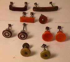 10 assorted art deco bakelite plastic Pull handles knobs 185 grs-0,407lb(s12280)
