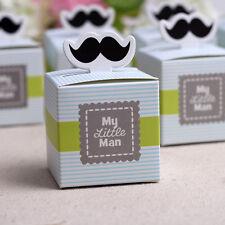 20x My little Man Mustache Baby Shower Candy Box Birthday Party Chocolate Box