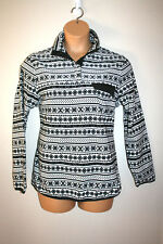 NEW Womens JACHS Outerwear Black and White Printed Henley Sweater Medium M NWT