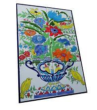 handbemalte Fliesen Fliesenbild Orient Keramikfliesen Blumen Vögel Azulejos