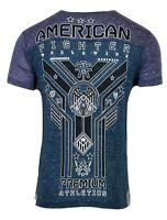 AMERICAN FIGHTER Mens T-Shirt HILLTOP FB TEE Premium Athletic Gym 18 $40