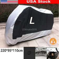 L Silver Motorcycle Waterproof Cover For Yamaha YZF R1 R1S R6 R6S Sportbike US