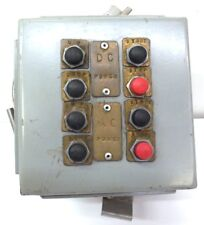 HUBBELL,  PUSH BUTTON ENCLOSURE, 8 PUSH BUTTONS, 6 X 6 X 4