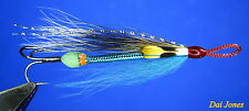 sewin/ sea trout salmon SQUIRREL BLUE & SILVER GLOW IN DARK  snake flies X 3.