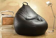 pouff poltrona sacco in Ecopelle VUOTO pouf puff puf colore nero