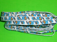 SHOELACES   BIRD BLUE ON WHITE LACES 115CM ***IN AUSTRALIA *** BOOTLACES