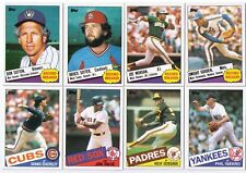 1985 Topps SUPERSTAR/HALL OF FAMERS CARDS (you choose/pick 5 cards)!