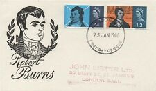 PHOSPHOR 1966 ROBERT BURNS FIRST DAY COVER FDC - LONDON POSTMARK