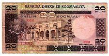 SOMALIE SOMALIA Billet 20 Shillings 1981 MUQDISHO P29 TROUPES DE VACHE BON ETAT