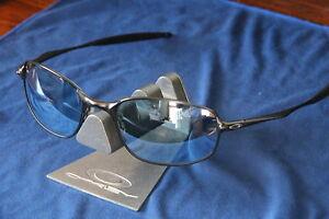 ☯☯☯RARE☯☯☯ CUSTOM Oakley BIG SQUARE WIRE PEWTER ☯☯☯ LIGHT BLUE LENS ☯☯☯
