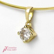 Anhänger in 18K/750 Gelbgold mit 1 Diamant ca. 0,45 ct leicht getönt-P - 0,8 g