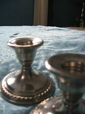 """TWO """"Le Pierre"""" STERLING SILVER CANDLEHOLDERS 3'' TALL POST 1940 ?"""